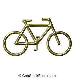 gouden, fiets