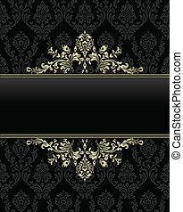 gouden, frame, op, seamless, barok, ba