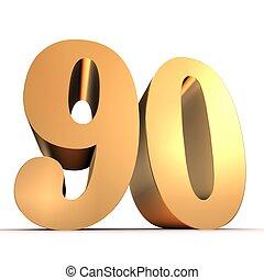 gouden, -, getal, 90