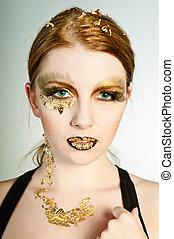 gouden, gezicht