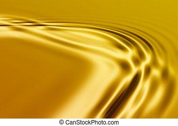 gouden, golven