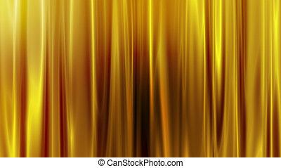 gouden, gordijn