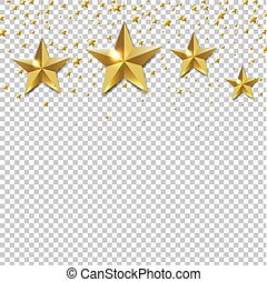 gouden, grens, ster