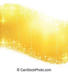 gouden, het fonkelen, kerstmis, achtergrond