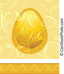gouden, het glanzen, achtergrond, egg.
