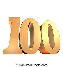 gouden, honderd, -, getal