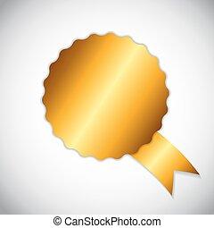 gouden, illustratie, keuze, vector, etiket, best