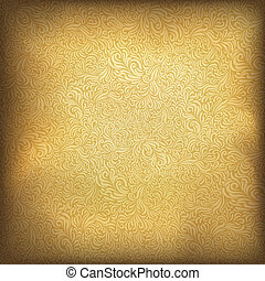 gouden, illustratie, ouderwetse , eps10., achtergrond., vector