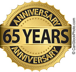 gouden jaren, 65, jubileum, etiket