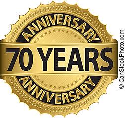 gouden jaren, jubileum, 70, etiket