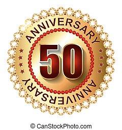gouden jaren, jubileum, label., 50