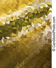 gouden, kleur, model, abstract, donker, driehoeken