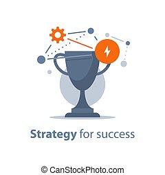 gouden, kop, succes, vervulling, winnen, prijs, kom, toewijzen, strategie, spel, plek, groot, programma, wedstrijdbeker, belonen, ceremonie, eerst