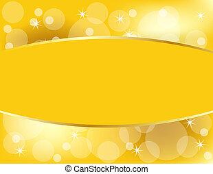 gouden, kopie, kerstmis, achtergrond, ruimte