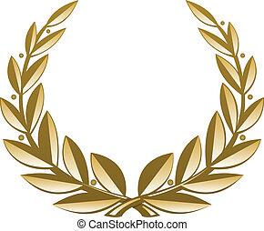 gouden, krans