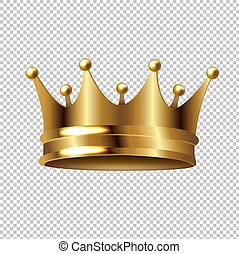 gouden kroon, vrijstaand, transparant, achtergrond