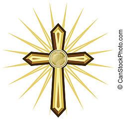 gouden, kruis
