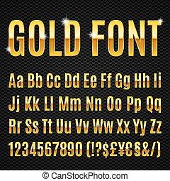 gouden, lettertype