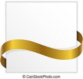 gouden, lint, aantekening