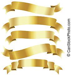 gouden, linten