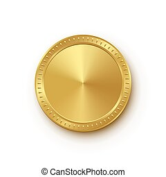 gouden, mal, vrijstaand, achtergrond., vector, ontwerp, medaille, witte , element.
