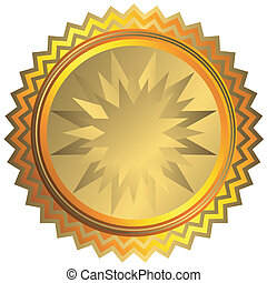 gouden, medaille, (vector)