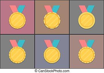 gouden, medailles