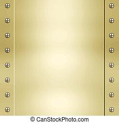 gouden, metaal, achtergrond, textuur