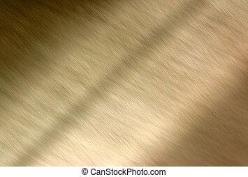 gouden, metalen, achtergrond, blur.