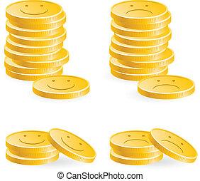 gouden, muntjes