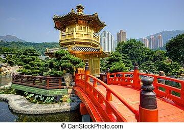 gouden paviljoen, in, hong kong