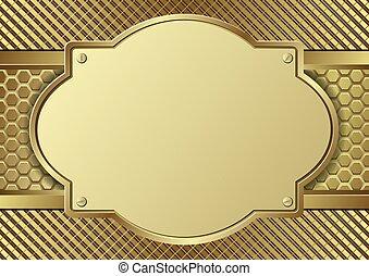 gouden, plaque