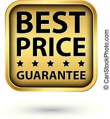 gouden, prijs, illustratie, vector, etiket, best, borg staan voor