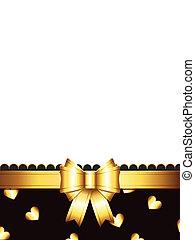 gouden, schenking kaart, boog