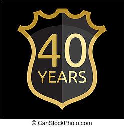 gouden, schild, 40, jaren