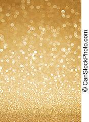 gouden, schitteren, abstract, achtergrond