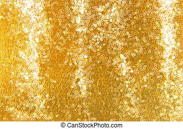 gouden, schitteren, achtergrond, schittering
