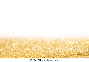 gouden, schitteren, kerstmis, achtergrond