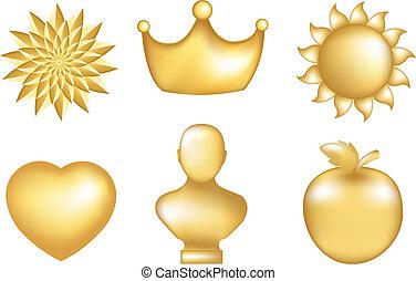 gouden, set