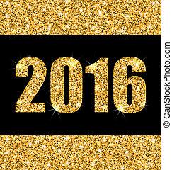 gouden, shimmering, achtergrond, jaar, stof, nieuw, vrolijke