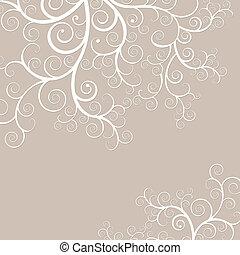 gouden, swirls, elegant, black , delicaat, achtergrond