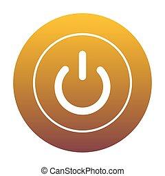 gouden, van, helling, meldingsbord,  switch, witte, cirkel, pictogram