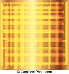 gouden, vector, rooster achtergrond