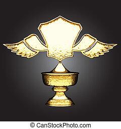 gouden, vector, toewijzen