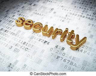 gouden, veiligheid, concept:, achtergrond, digitale