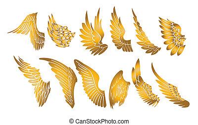 gouden, vleugels