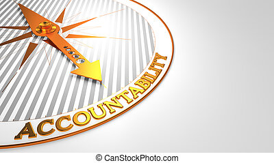 gouden, witte , compass., accountability