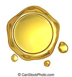 gouden, zeehondje, was
