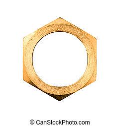 gouden, zeshoek, noot