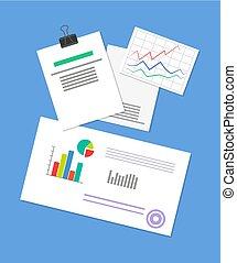goupillé, document, illustration affaires, stratégie